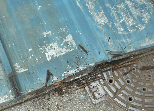 木枠看板撤去