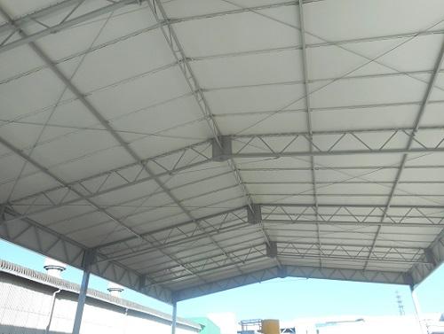 倉庫テント張り
