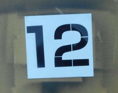 亜鉛ステンシル数字