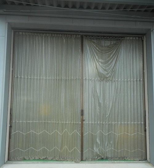 アコーディオンカーテン施工前