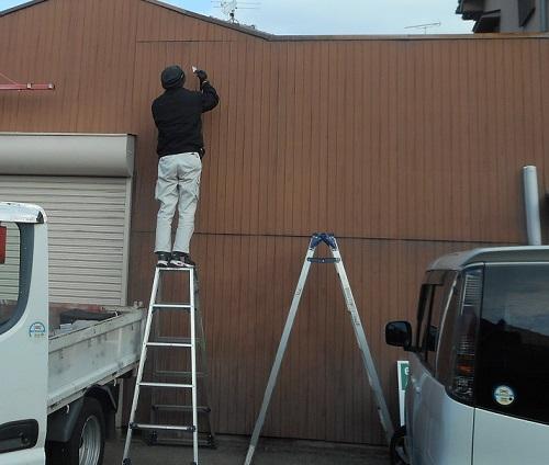 壁面看板工事前